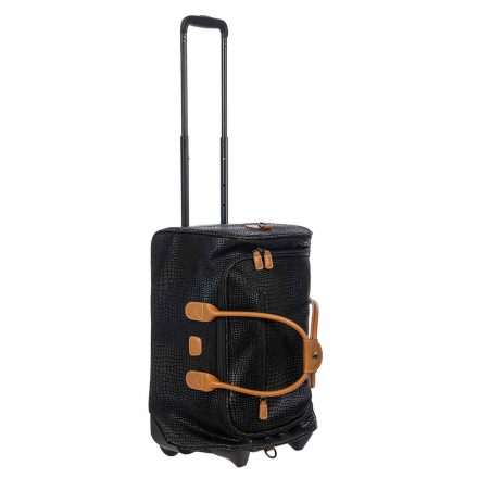 "MYSAFARI 21"" CARRY-ON ROLLING DUFFLE BAG - BLACK"