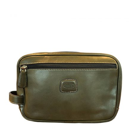 LIFE PELLE TRADITIONAL SHAVE CASE - OLIVE GREEN