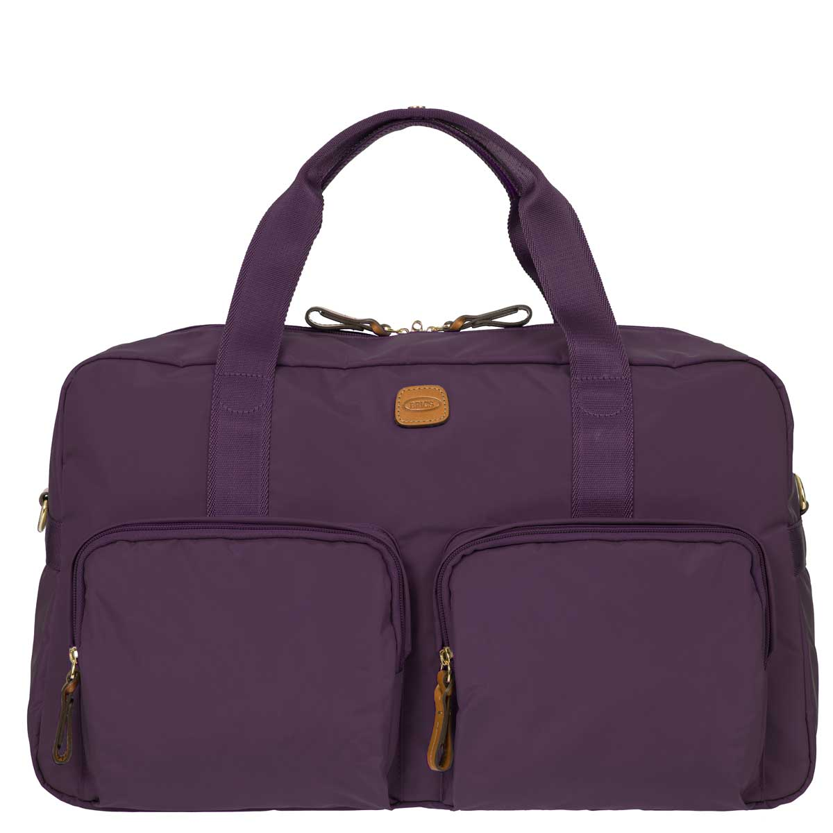 The newest style to the X-Bag line, the Boarding Duffle, is based on the concept of transformability and function. Thanks to its new shapes, patterns and refined details, it will be the must have fashion accessory. BRIC'S Core X-Bag line consists of black, olive, navy and purple.