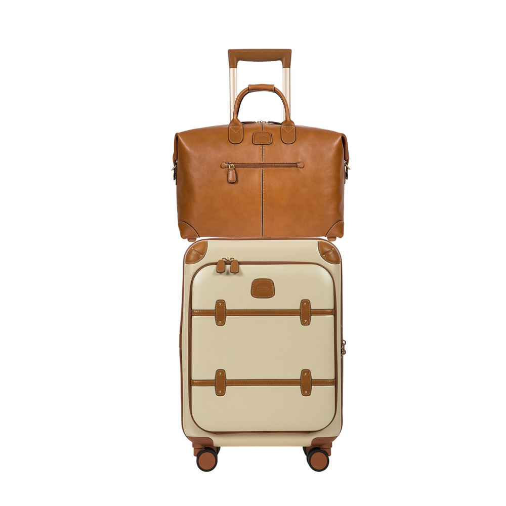 Whether it's for business or a getaway, this stylish set is refined and functional with a full-grain Tuscan leather duffle accompanied by our bestselling Bellagio Carry-On with a computer pocket.