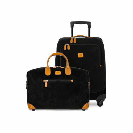 BRIC'S Life Carry-On Luggage Set in Black