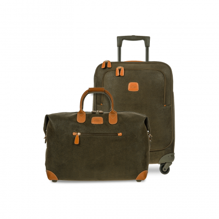 BRIC'S Life Carry-On Luggage Set in Olive Green