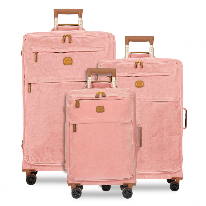 BRIC'S Life Tropea 3-Piece Soft Sided Luggage Set in Pink