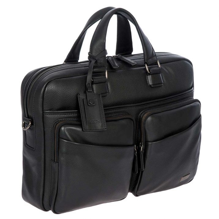 Torino Briefcase - Black | Brics Travel Bags
