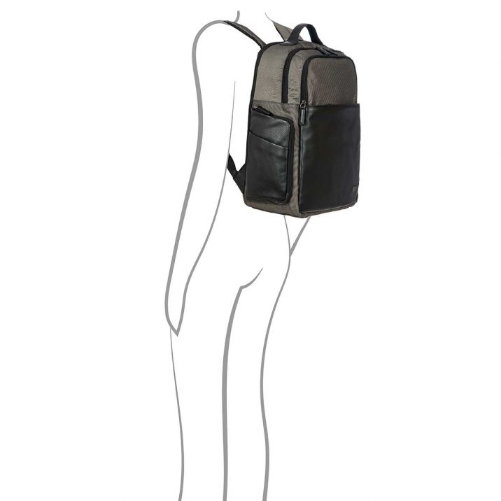 Monza Business Backpack - Black & Gray   Brics Travel Bags