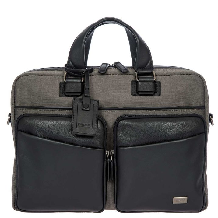 Monza Briefcase - Black & Gray | BRIC'S Luggage