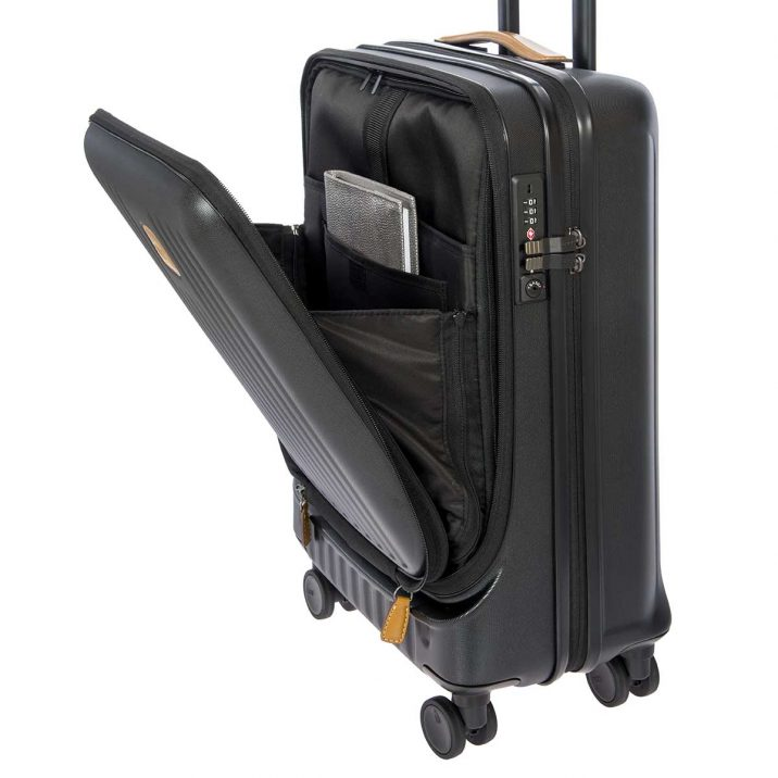 "Capri 21"" Spinner with Pocket - Matte Black 
