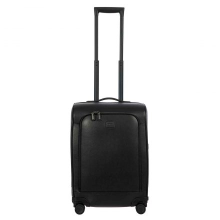 "VARESE 21"" SPLIT FRAME SAFFIANO LEATHER SPINNER - BLACK"
